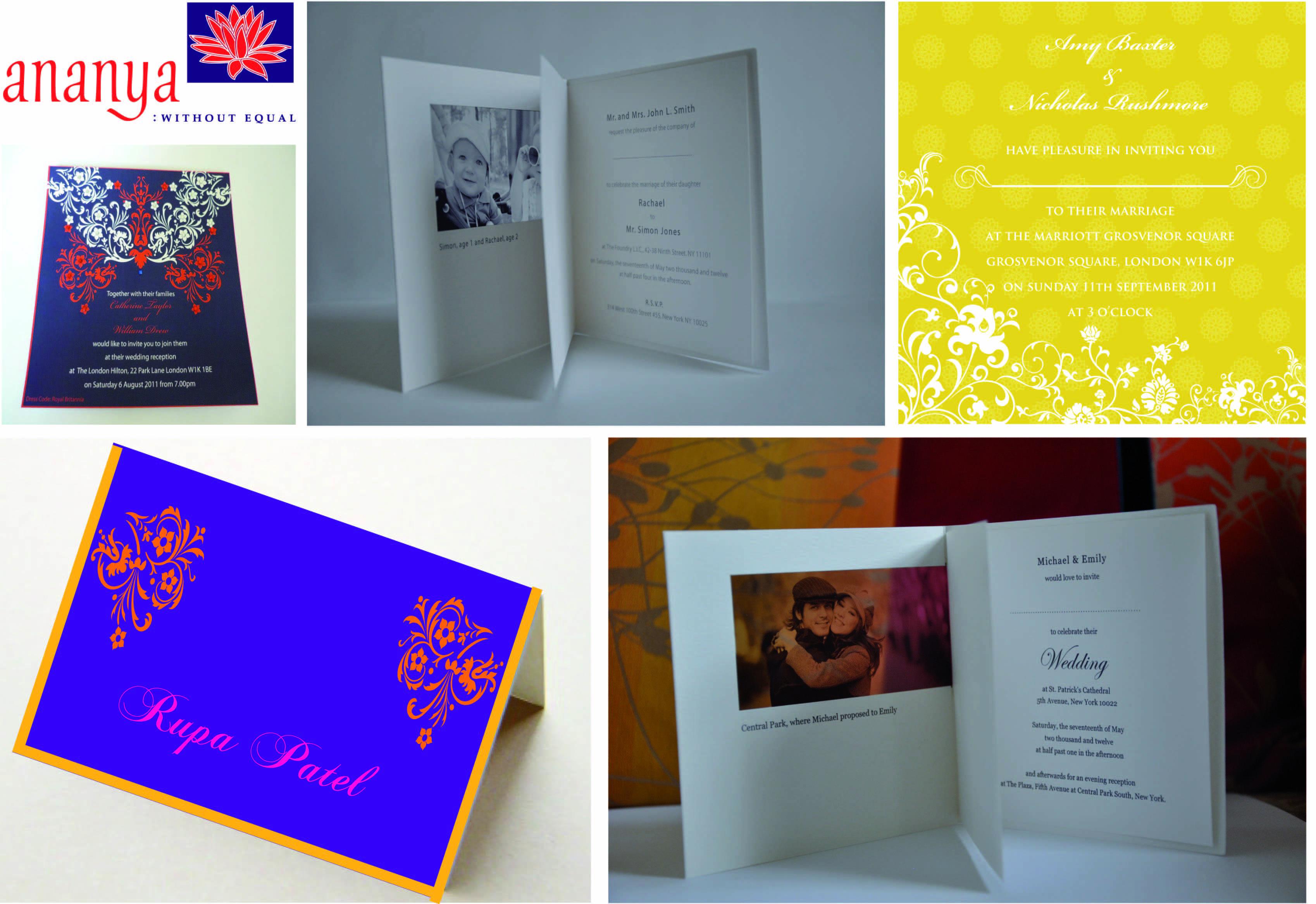 ananya wedding invitations in New York