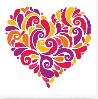 Heart greetings card