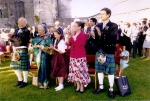 guests at Scottish Indian wedding at Stirling Castle