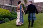 Indian bride and Scottish groom in kilt