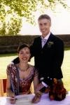 Indian bride and Scottish groom at Stirling Castle wedding