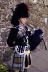 Scottish piper at wedding