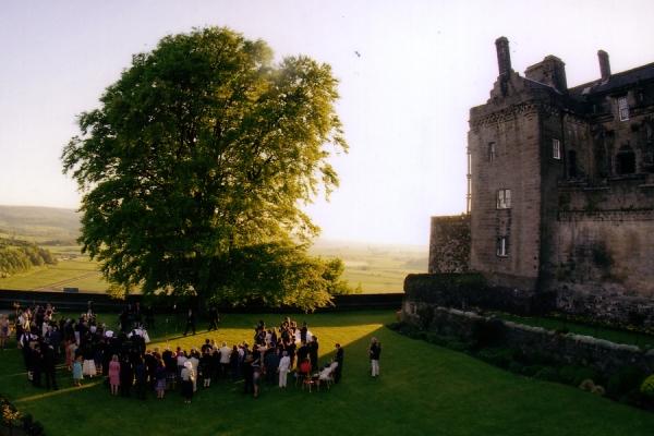 wedding guests at Stirling Castle