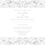 Grey wedding invitaiton
