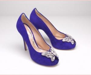 Violet suede heels for moodboards