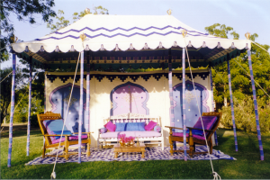 Blue tent for moodboard ideas