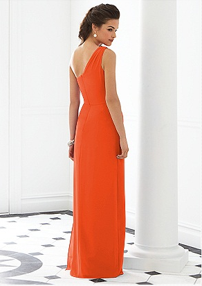 Orange one shoulder dress by Dessy