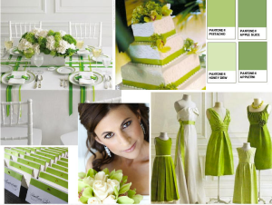 green wedding moodboard