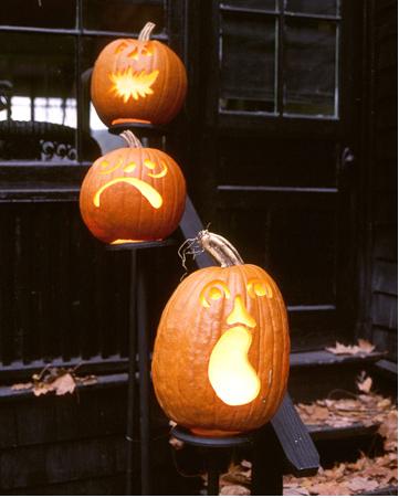 pumpkin faces Halloween ideas