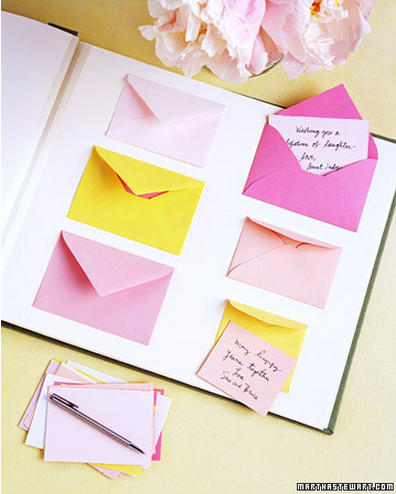 DIY wedding guest book idea