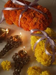 Diwali, marigold, diya