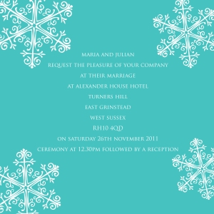 wedding invitation, winter wedding