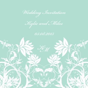 Mint Modern spearmint green wedding invitation by Ananyacards.com