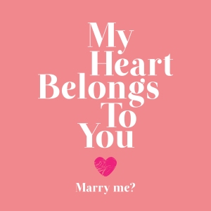 Pink heart Proposal will you marry me card for Valentine's Day