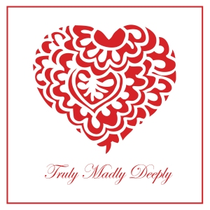 Valentine's Day, love, red heart greeting card