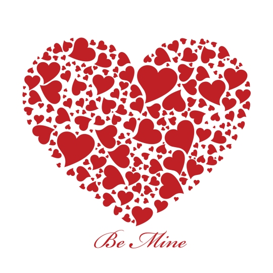 Red heart card for Valentine's, Weddings or Anniversaries