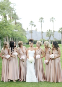 pretty bridesmaid dresses in nude colour