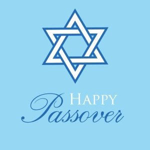 blue star Passover and Pesach greeting card