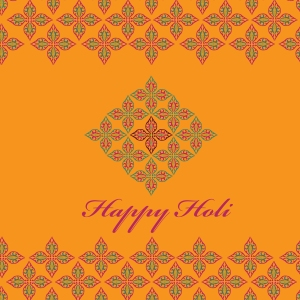 Happy Holi, festival of colours, celebration greeting card