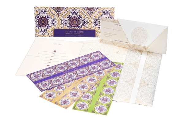 exotic wedding stationery