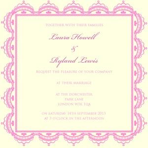 pretty lace wedding Invitation for autumn winter trends 2013