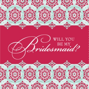 pretty bridesmaid card for engagement
