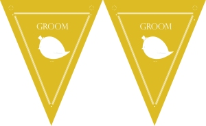 free downloadable yellow wedding bunting for outdoors summer wedding