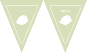 free downloadable wedding bunting for outdoors summer wedding