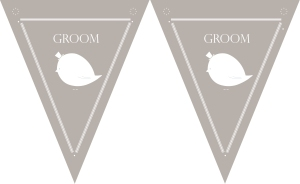 free downloadable grey wedding bunting for outdoors summer wedding