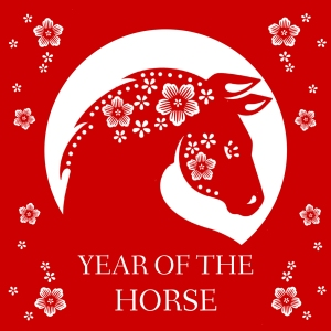 Chinese New Year card, Year of the Horse