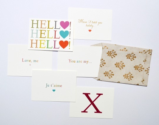 cute, romantic love notecards