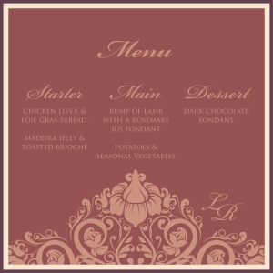 Menu in Marsala
